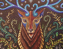 Stag Totem Commissioned by R.Culturi