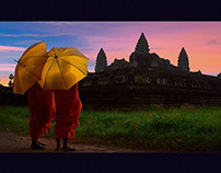Cambodia-Images: postcard collection