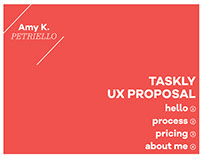 Taskly UX Proposal