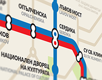 New navigation map for the Sofia metro