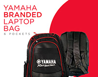 Yamaha Branded Laptop Bag Poster Design