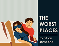The Worst Places to hit on someone