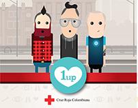 1 UP Juego Donación de Organos - Cruz Roja Colombiana