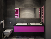 Bathroom for two girls. Variations