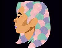 Ilustración rostro perfil
