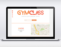 GymClass Website Design