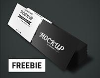 Freebie Business Card 2 Stacks Mockup