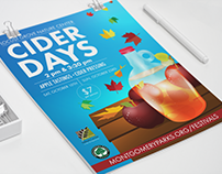 Cider Days | Poster Design M-NCPPC