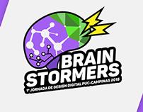 Logo Brain Stormers - PUC - Campinas