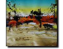 Acrylic on canvas Abstract landscape art for SALE...