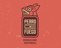 Perro de fuego logo design