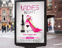 Ladies Night Flyer PSD Template