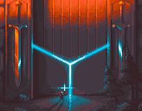Swords Temple (pixelart)