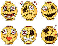 Halloween-style smiles