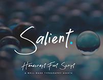 Salient - Handmade Font Script