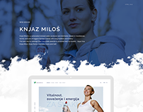 Knjaz Miloš Corporate website pitch