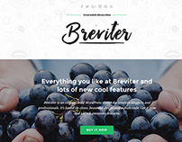 Breviter - free PSD theme for creative blogs