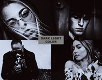 Dark Light Photoshop Actions for your Photography Stock