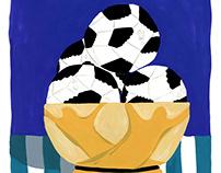 Papier Magazine - World Cup Soccer Illustration