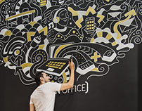 Mural Art for Co-working Space