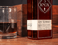 Three Knox Rye Whiskey