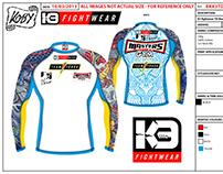 K3 FIGHTWEAR - designs for K3 fightwear London