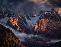 The lights of the Dolomites