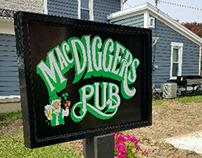 MacDigger's Pub Exterior Sign