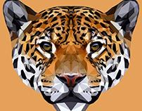Jaguar Polygon Art