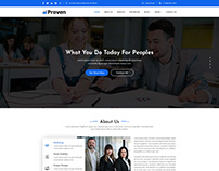 Proven | Finance, Corporate, Business PSD Template
