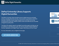 Digital Humanities DePaul Wordpress Website