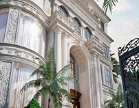 Classical villa with landscape design