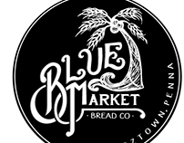 Blue Market Bread Co Logo Design