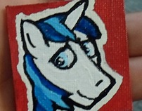 Shining Armor Mini Canvas Magnet / Pin