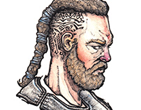 Watercolor head sketches