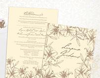 Casablanca Lilies Malay Wedding Card