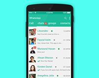 WhatsApp Redesign PSD Free Download