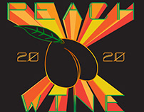 Peach Wine Label
