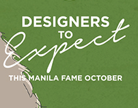 Designers to Expect Manila Fame Oct 2016
