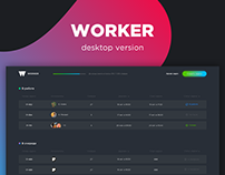 Worker — studio task tracker (desktop)