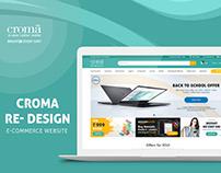 Croma E-commerce website Re-design