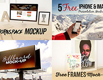 4 New & Free Mock-up Presentations Items