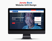 Janata Bank Website UI/UX Design