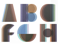Font creation inspired by Irma Boom - 2014