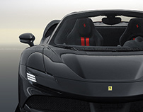 2020 Ferrari SF90 Stradale Spider Nero
