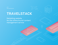 Marketing website for travel companies online service