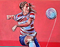 Women in art. Women in football