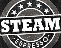 Steam Espresso Logo Design