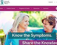 Website design for Cancer awareness and treatment