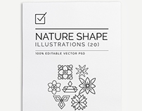 Geometric Nature Shape Illustrations $16.00